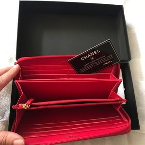 CHANEL Bags - CHANEL Lambskin Large Boy ZIP around wallet